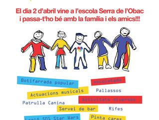 Amb motiu del Dia mundial de l'autisme, el dia 2 d'abril, organitzem una jornada solidària al CEIP S