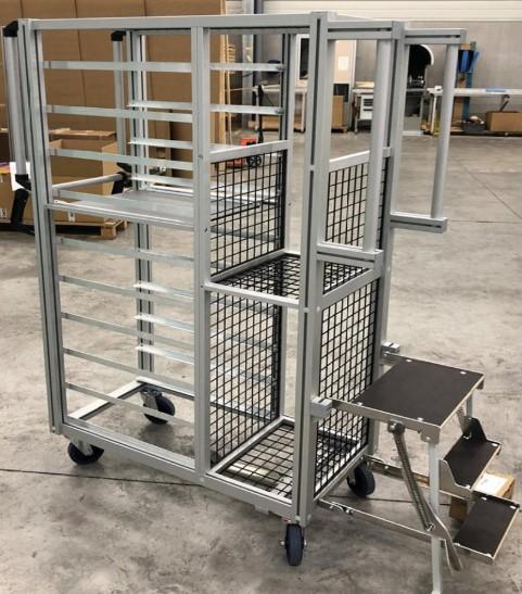 Storage Trolley with steps