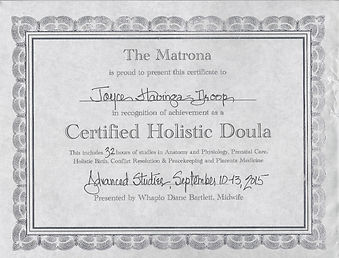 Certified Holistic Doula