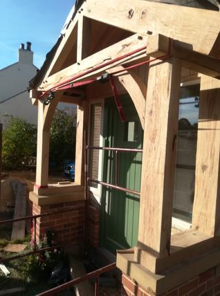 Bespoke Handmade Oak Porch