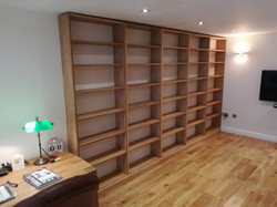 Bespoke book Oak Bookcase