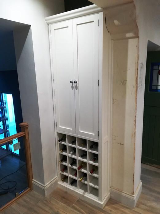 Bespoke Wind Rack with Cupboard