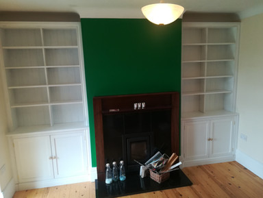 Bespoke Alcove Book Cases with Cupboards
