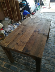 Solid Wood Table with removable top with Gaming Table Underneath