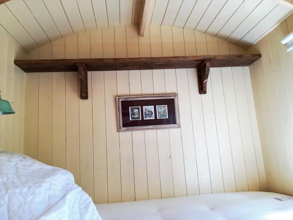 Interior of Bespoke Shepherds Hut