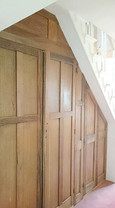 Understairs Cupboards made with Reclaimed Timber