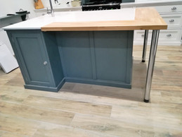 Bespoke Centre Island with Marble & Wood Top