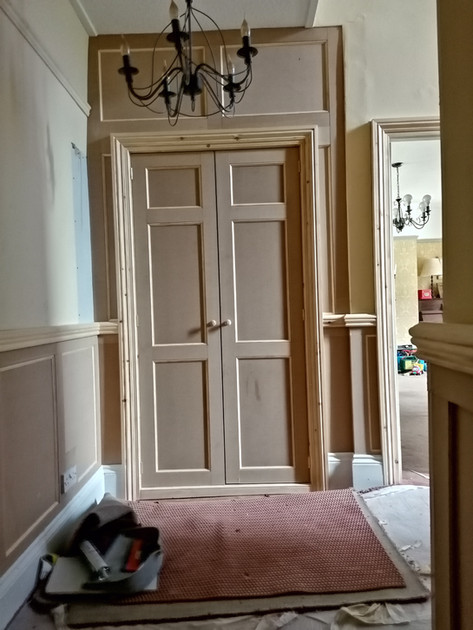 BESPOKE HALLWAY CUPBOARD WITH PANELLING