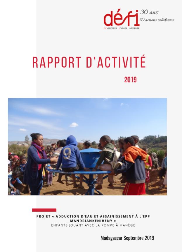 Le rapport d'activité est sorti ! Retrouvez les éléments qui ont marqué les projets en 2019 !