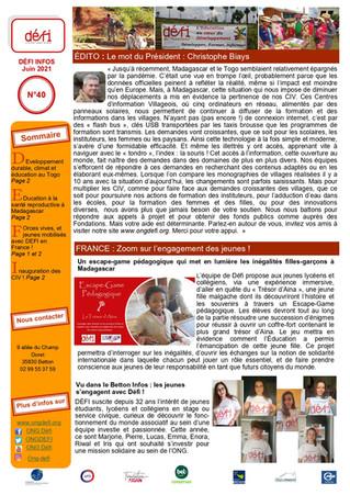 DEFI Infos n°40 !