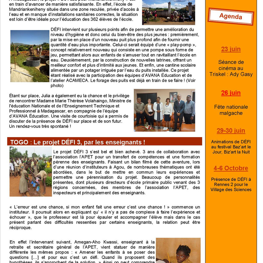 DEFI Infos n° 36, page 2