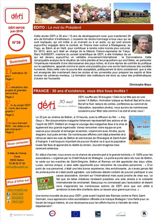 DÉFI Infos n°36