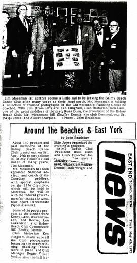 1972 5MAY4 PADDLING JIM MOSSMAN EAST END