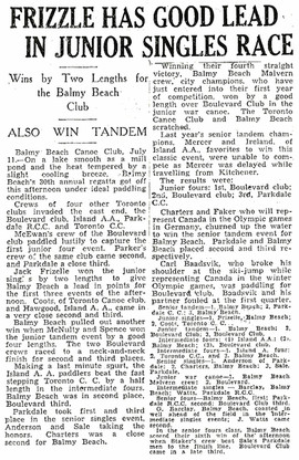 1930c FRIZELLE WINS _ BBC REGATTA