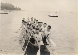1915 BBC SR WAR CANOE HALF MILE SILVER