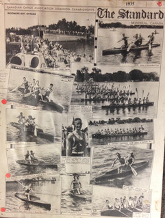 1935 PADDLING COLLAGE