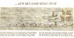 1957c BBC WAR CANOE SWAMPED, 3rd @ TS&CC
