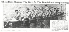 1937c SR WAR CANOE WINS @ OTTAWA JIM MOS