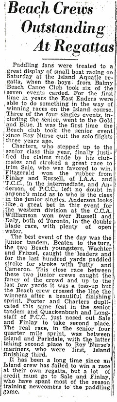 19355c BEACH CREWS OUTSTANDING _ REGATTA
