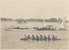 1914c WAR CANOE RACE perhaps _ TORONTO H