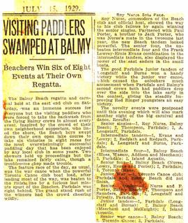 1929 BBC WIN 6 OF 8 _ BALMY REGATTA