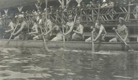 1920 7JULY1 HANLAN'S PT MEN'S WAR CANOE