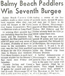 1963 BBCC WIN 7th BURGEE @ LONG POND cop