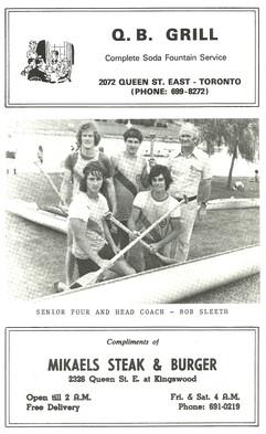 1974 REGATTA PROGRAMME