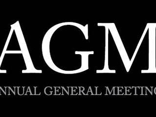 AGM and Pre Season Dates 2016