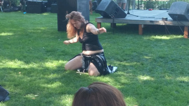 "Lindsey dancing to ""Bottom of the River"" at the Goddess Fest in Boise, Idaho"