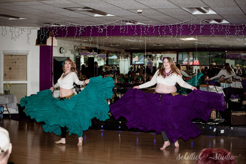 Lindsey and Kelly at the Divine Dance Student Hafla