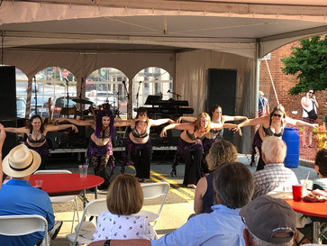 """Troupe Anam Cara performing to """"Anubis"""" at the Frederick Festival of the Arts"""