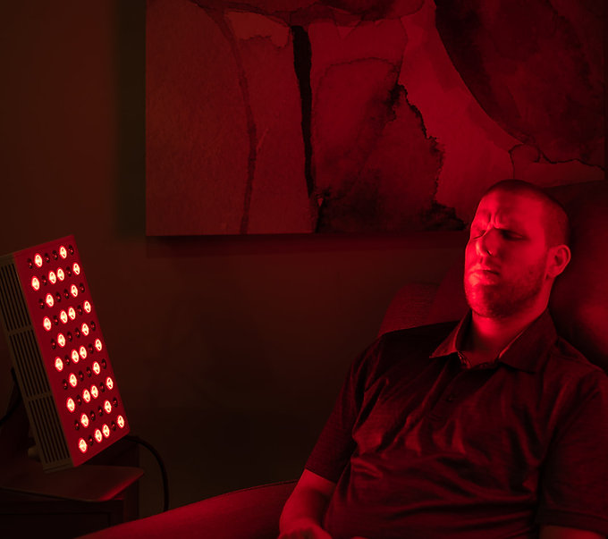 Red Light and Infrared Light therapy Joovv light to help with concussion recovery and memory. Photobiomodulation uses light energy to repair tissue and reduce inflammation.
