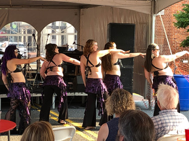 "Troupe Anam Cara performing to ""Anubis"" at the Frederick Festival of the Arts"
