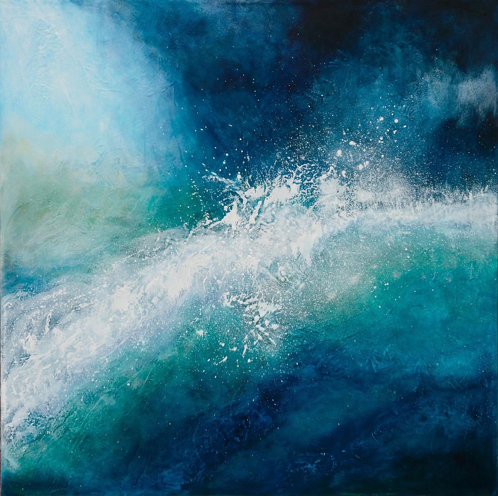 Storm in my Heart textured acrylic painting. designartlove.com