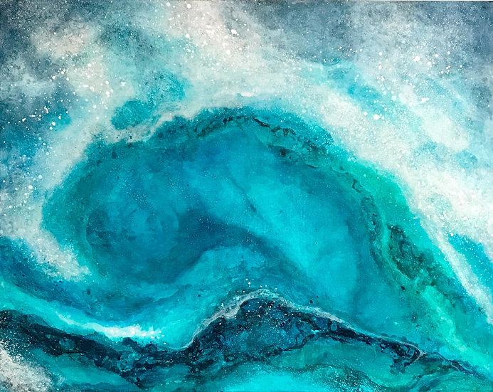 """BLUE LAGOON – 22"""" x 28"""""""