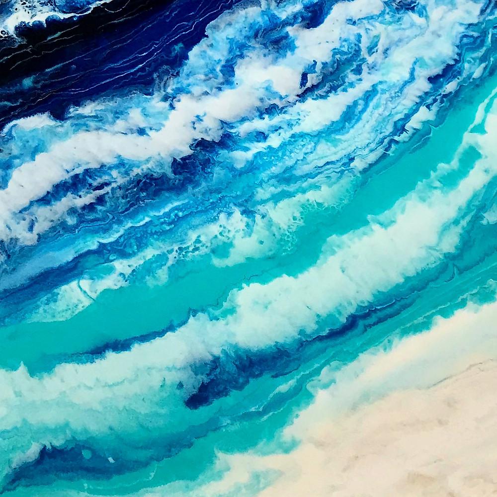 art resin seascape @design.art.love