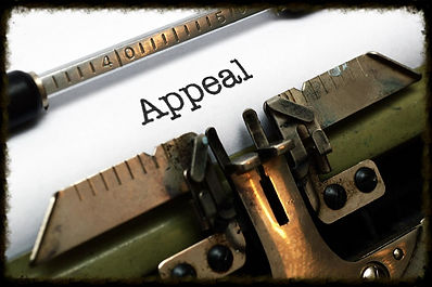 Writing up an appeal on a typewriter for appellate practice in Rapid City, SD