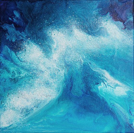 """CRASHING WAVES – 10"""" x 10"""""""