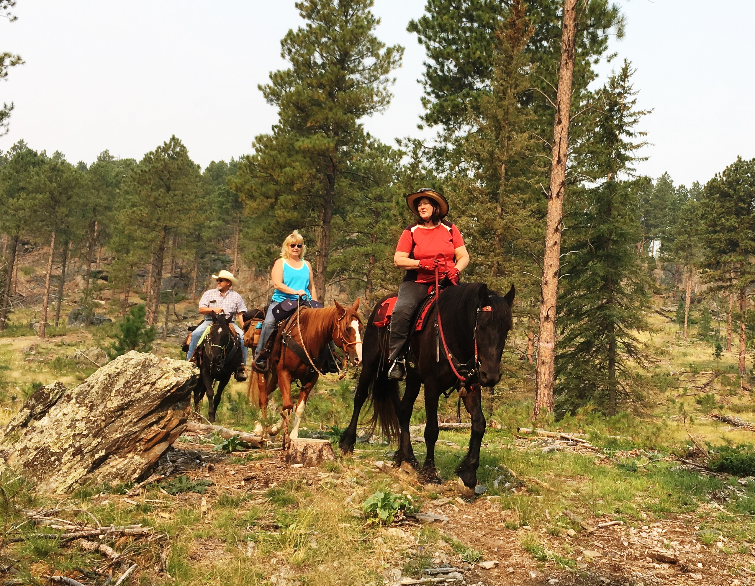 Trail riding in the Black Hills