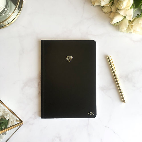 Black Icon Softcover Notebook