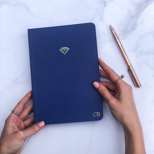 Blue Icon Softcover Notebook