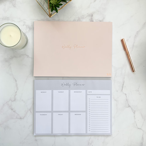 Light Pink Weekly Planner Notepad