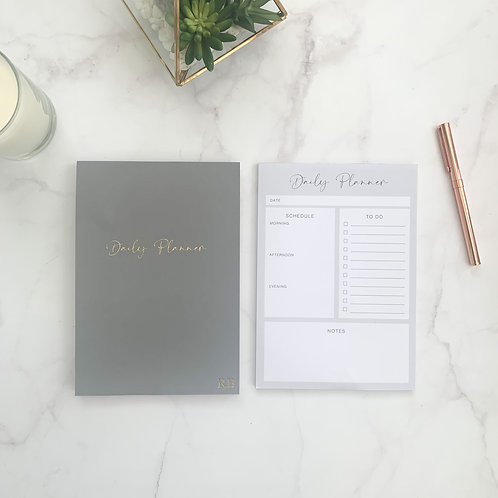 Grey Daily Planner Notepad