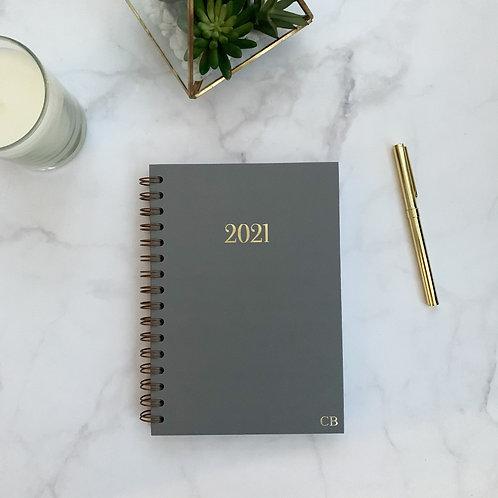 Grey 2021 Diary - Week Per View