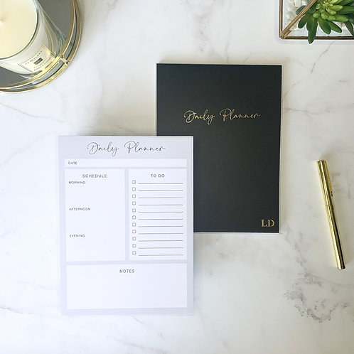 Daily Planner Notepad - Black
