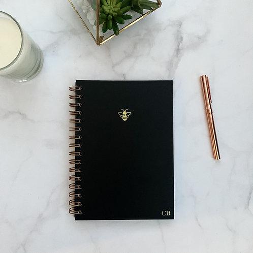 Icon Spiral Bound Notebook - Black