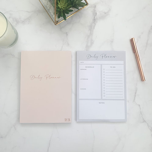 Light Pink Daily Planner Notepad
