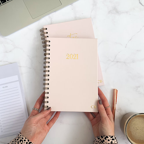 Light Pink 2021 Diary - Week Per View