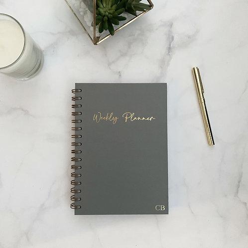 Weekly Planner Undated - Grey